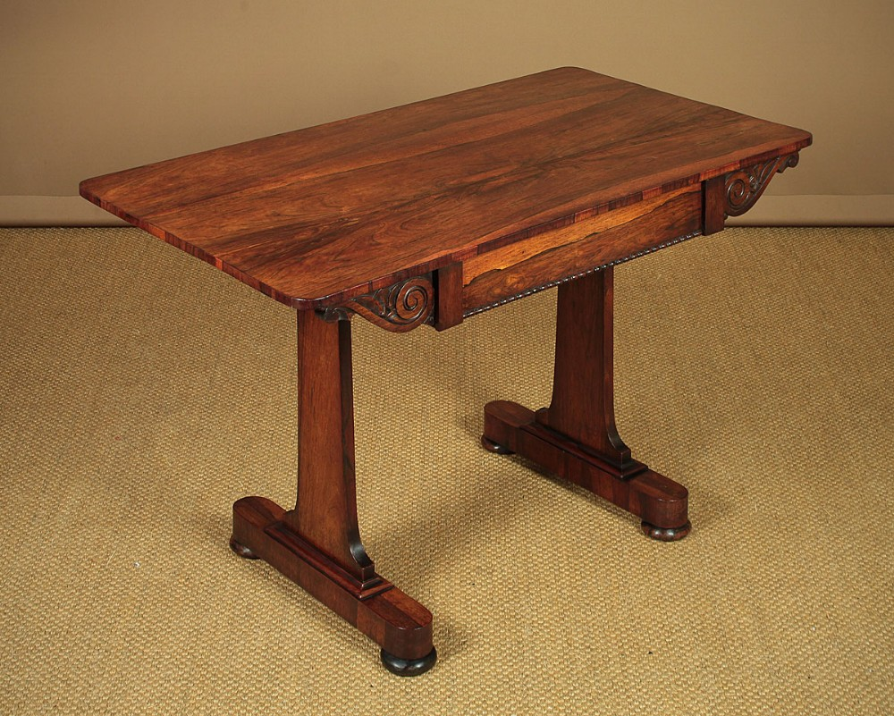 small rosewood writing table c1830