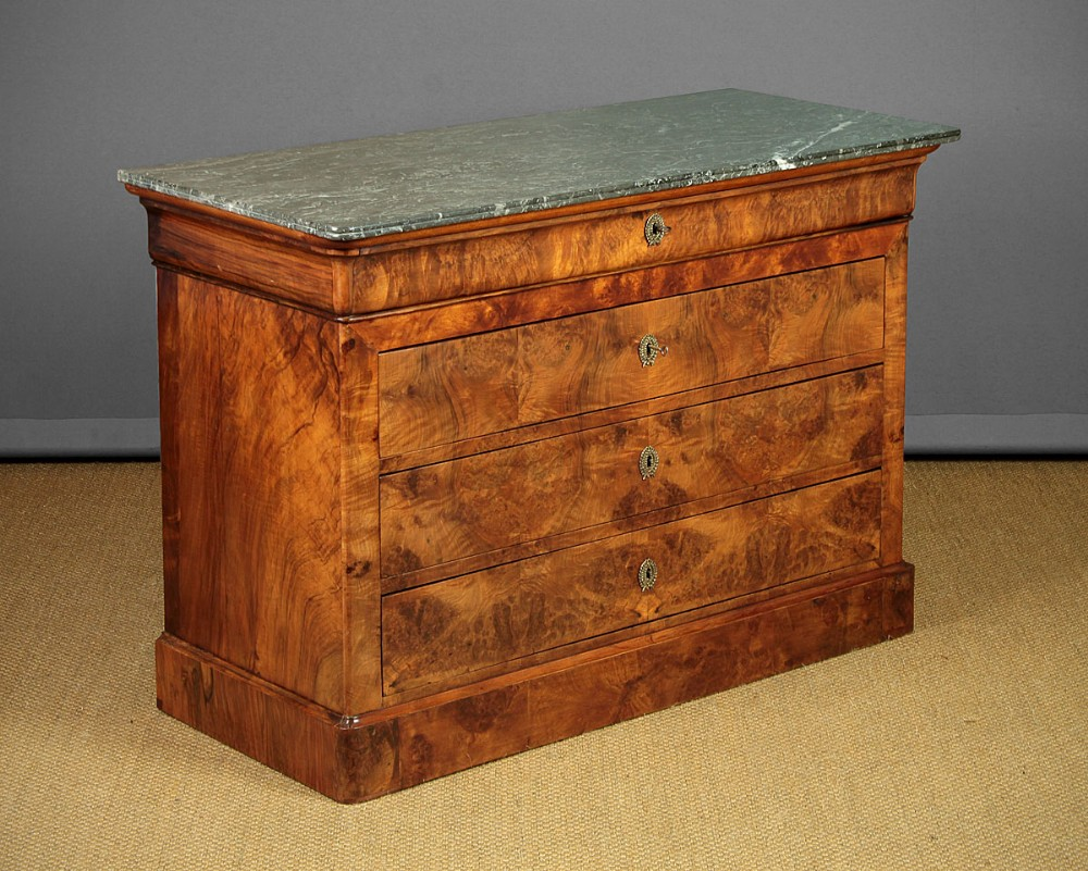french louis philippe marble top chest of drawers c1840