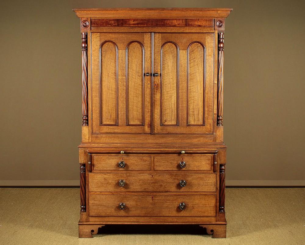 welsh oak kitchen cupboard c1870