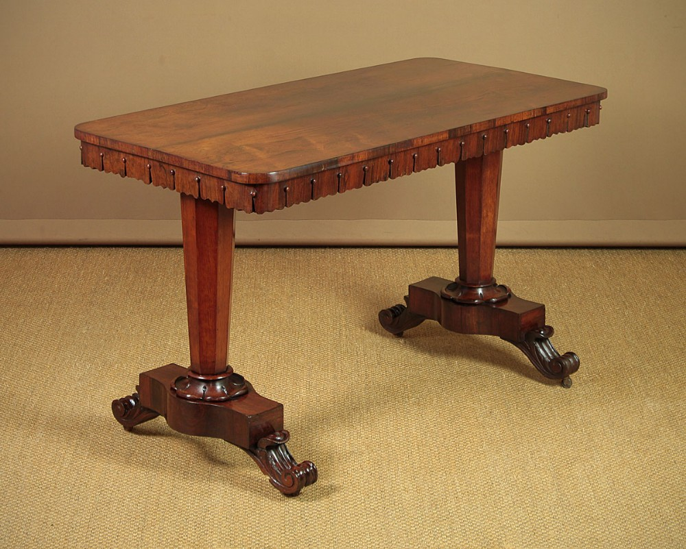 19thc rosewood writing or sofa table c1840