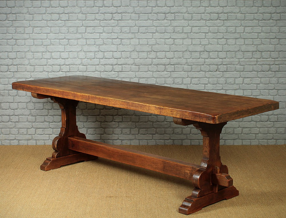 large oak refectory table c1930