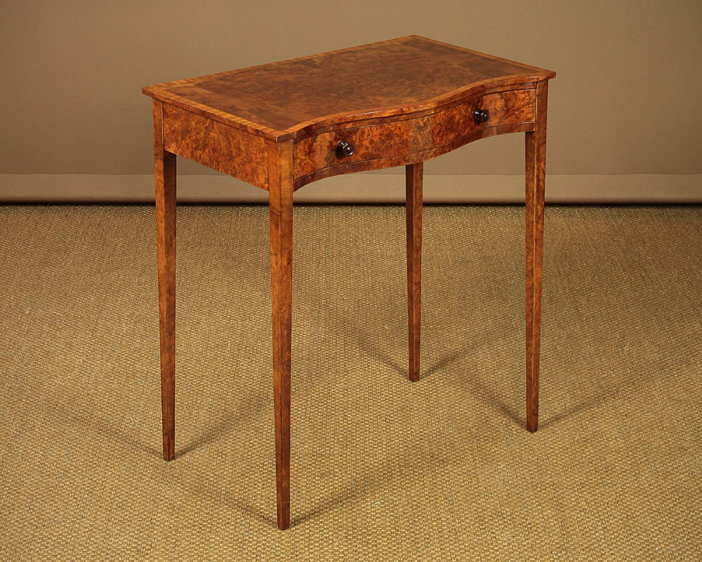 edwardian serpentine front side table c1910