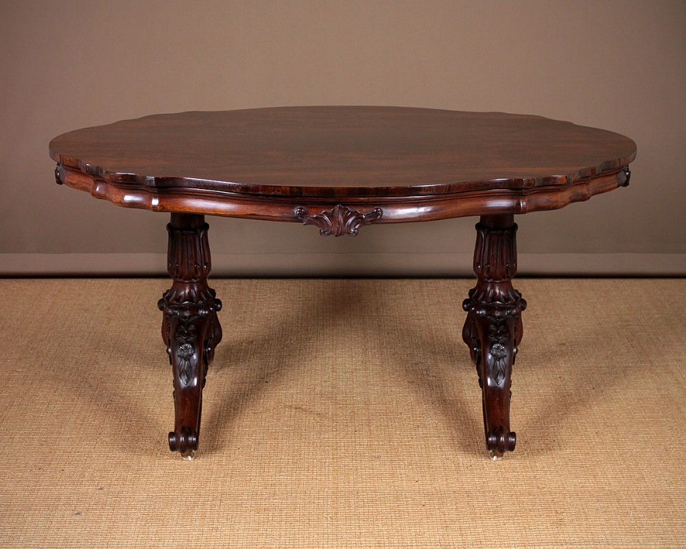 mid 19thc rosewood oval centre table c1860