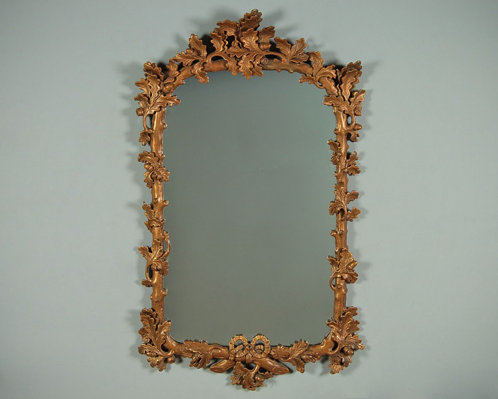 gilded 19thc style wall mirror c1920
