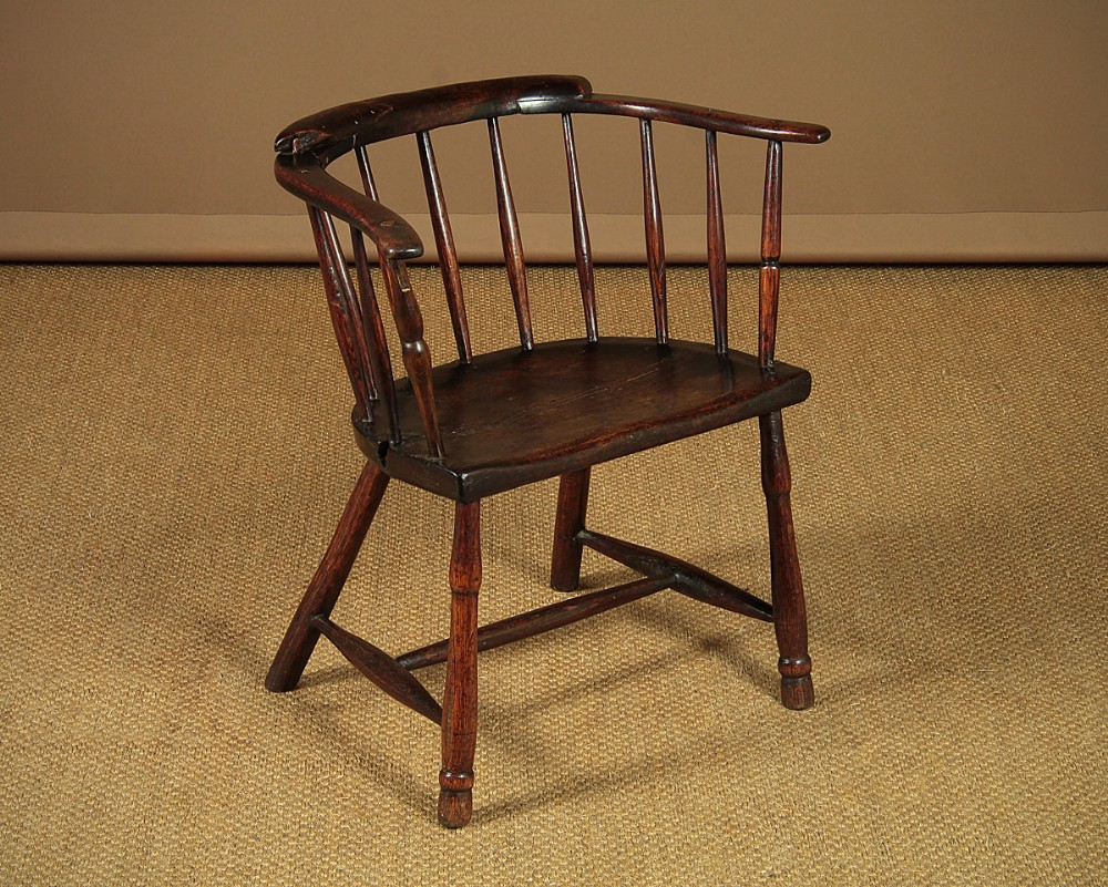 small welsh stick back armchair c1800
