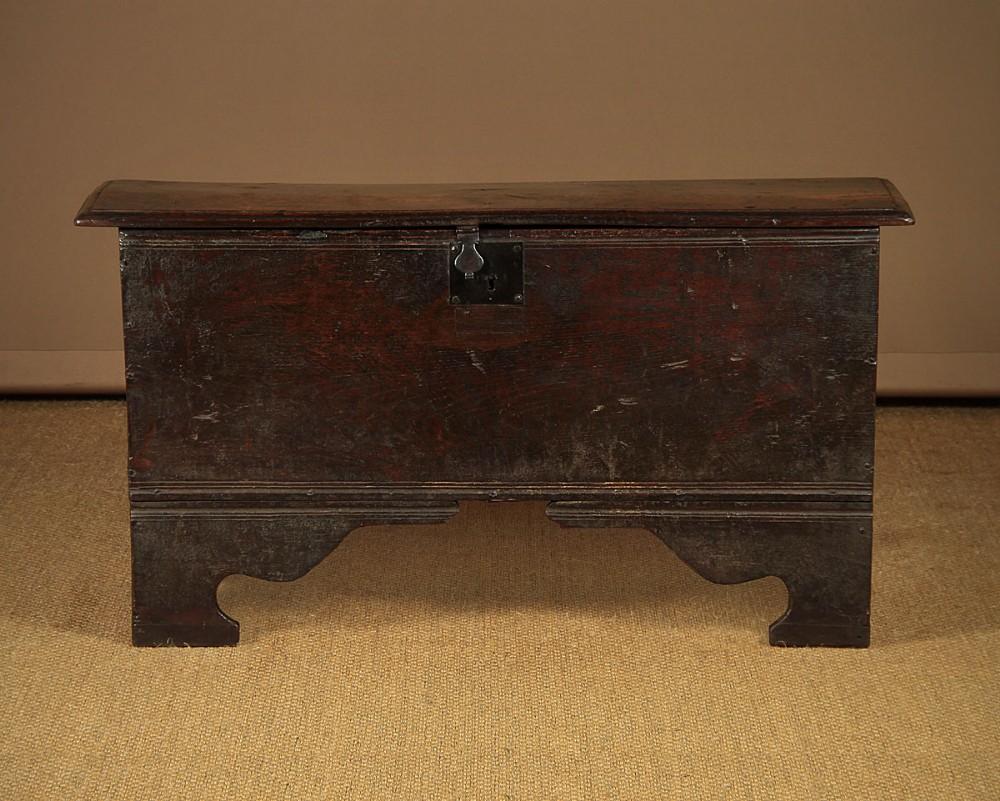 17thc six plank coffer c1640