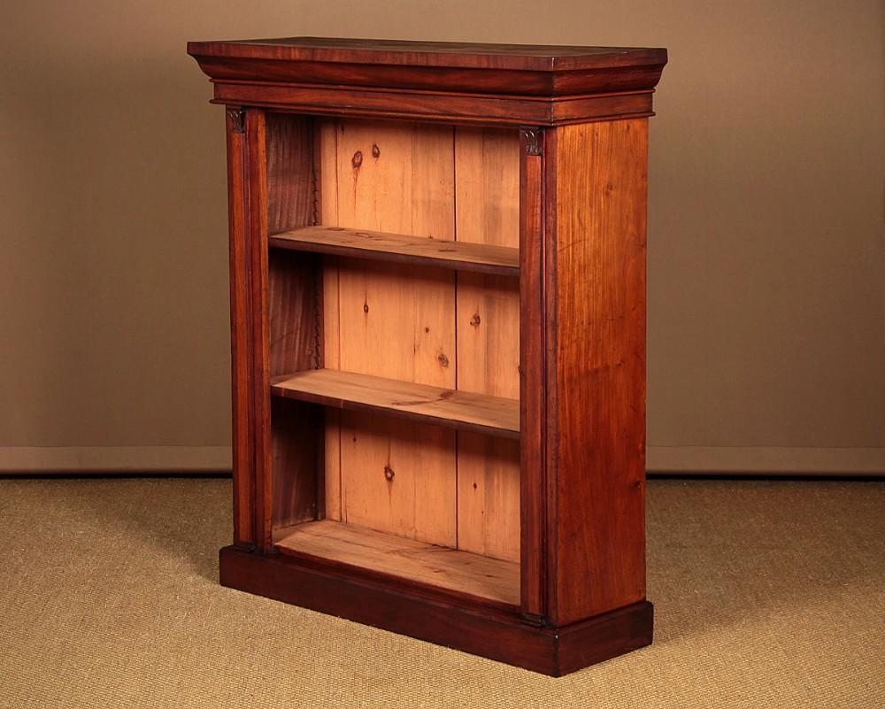 mid 19thc mahogany open bookshelves c1860