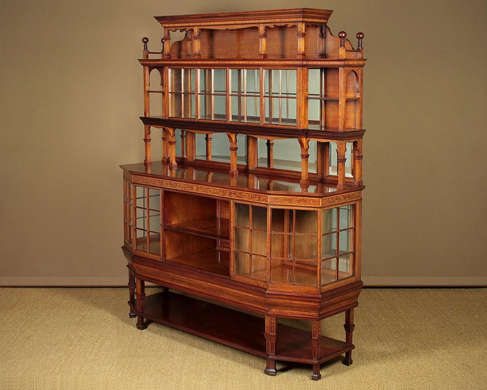 unusual mahogany display sideboard dresser c1900