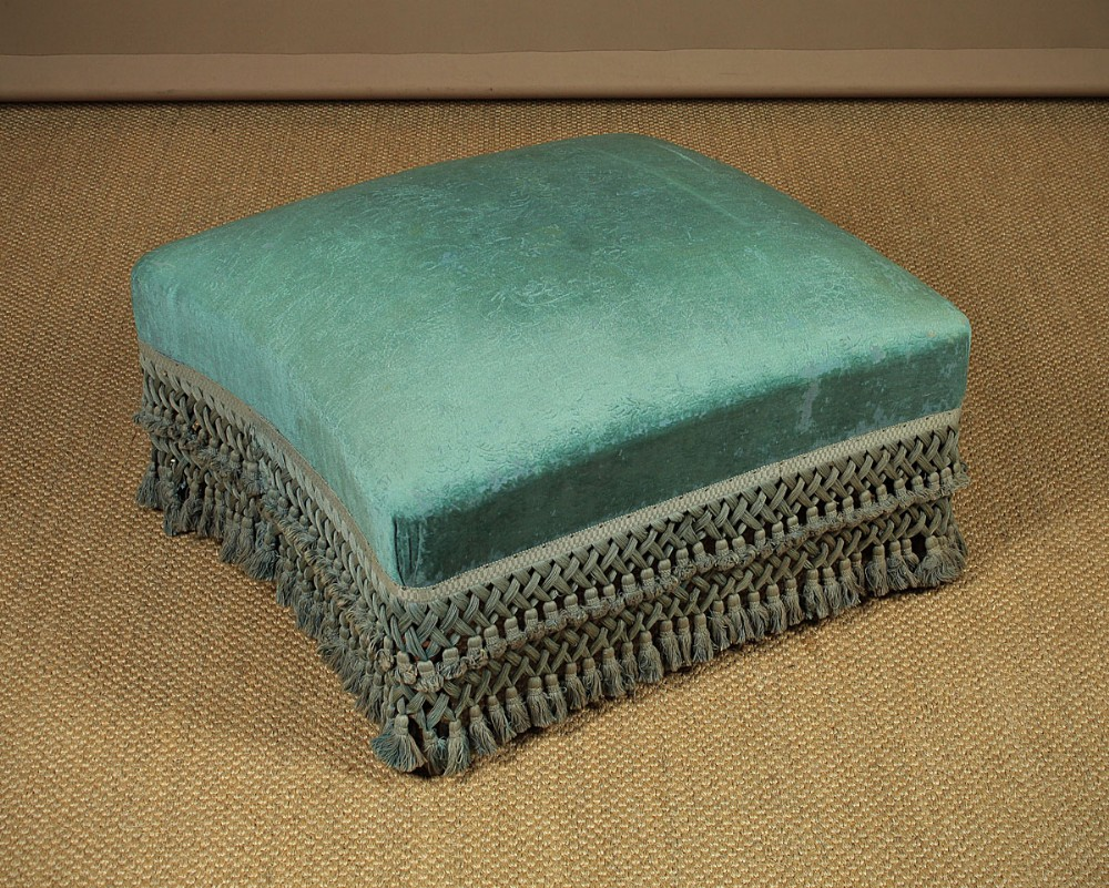 large foot stool with original upholstery c1900
