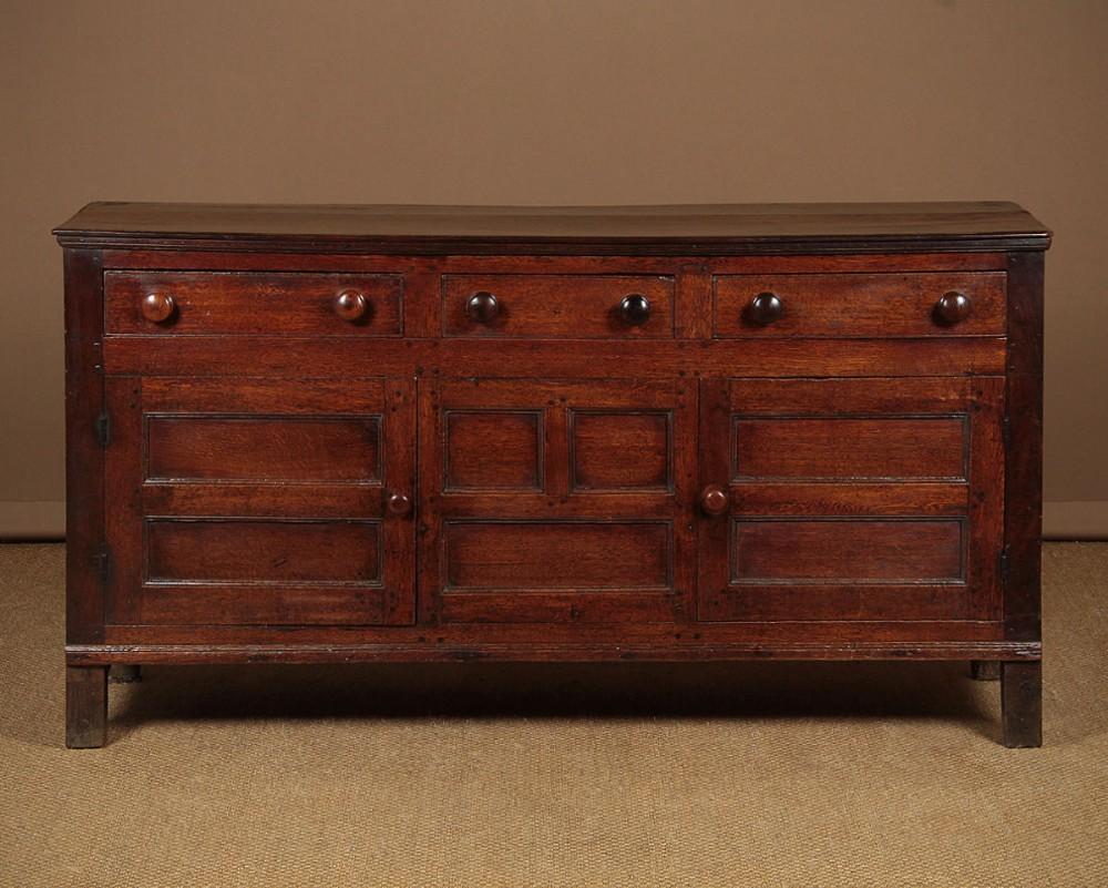 welsh oak cupboard dresser base c1800