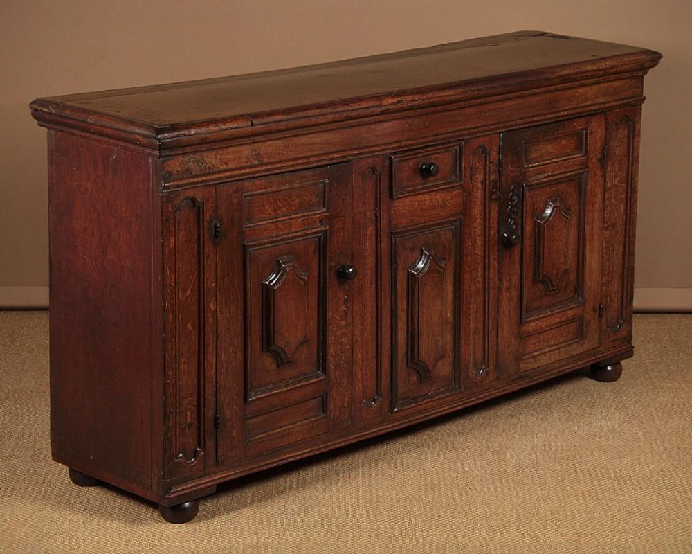 18thc french oak dresser base c1720
