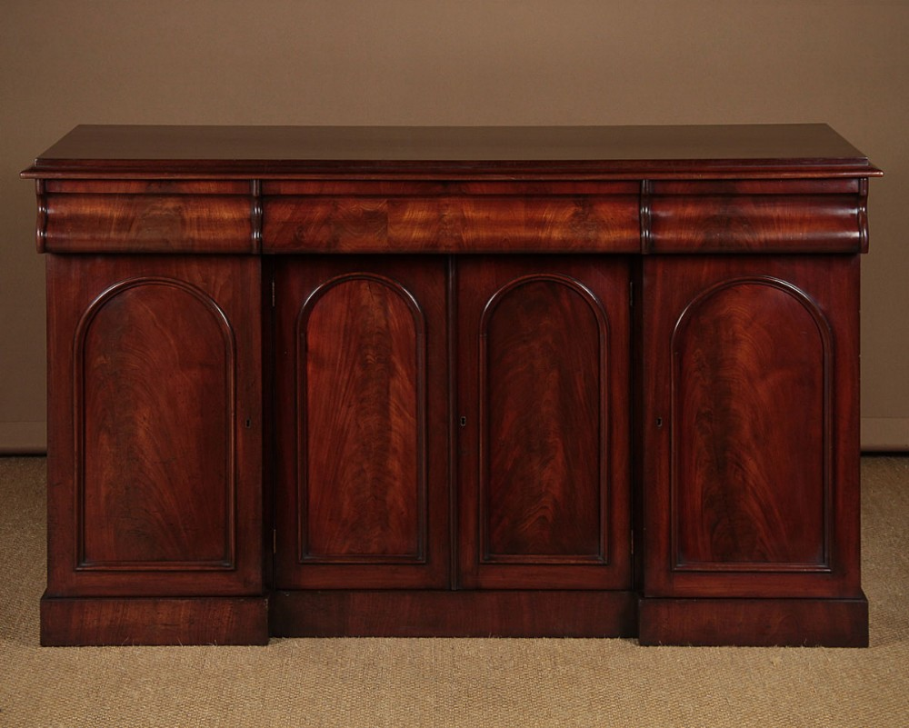 four door mahogany sideboard c1860