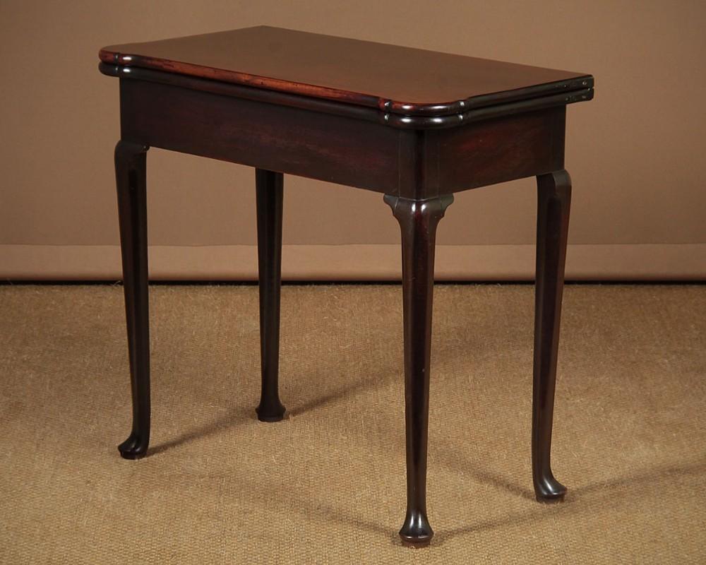 georgian mahogany fold over supper table c1760
