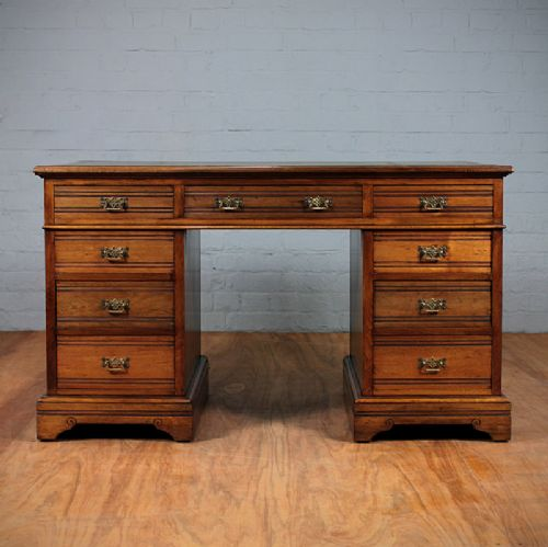 edwardian kneehole desk