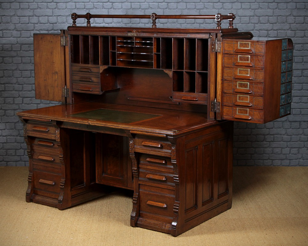 Indianapolis cabinet company roll top desk c