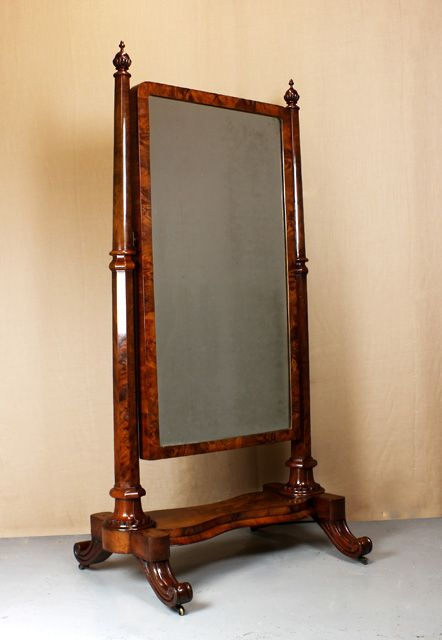 Mid 19thc cheval mirror 219036 for Antique standing mirror