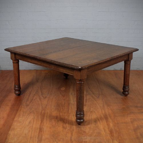 Square Oak 8 Seat Dining Table 254436