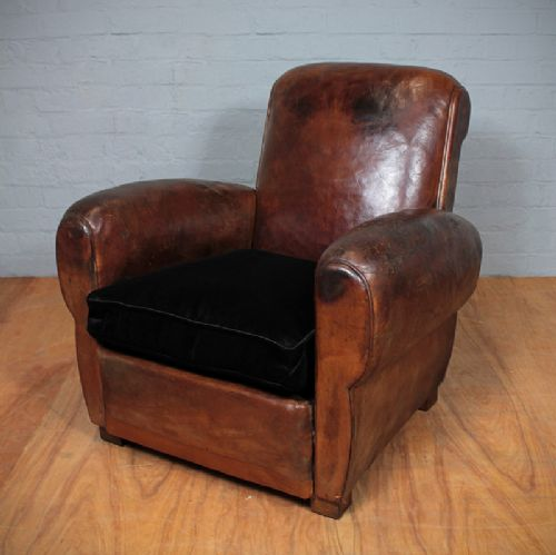 Vintage French Leather Armchair | 241955 | Sellingantiques ...