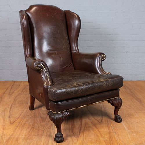 Vintage Leather Armchair. | 240406 | Sellingantiques.co.uk