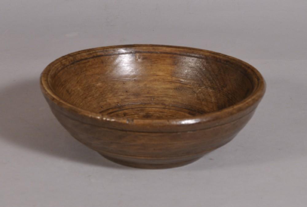 antique treen 18th century food bowl