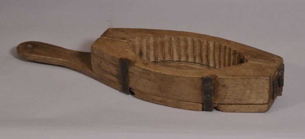 antique treen 19th century beech butter mould