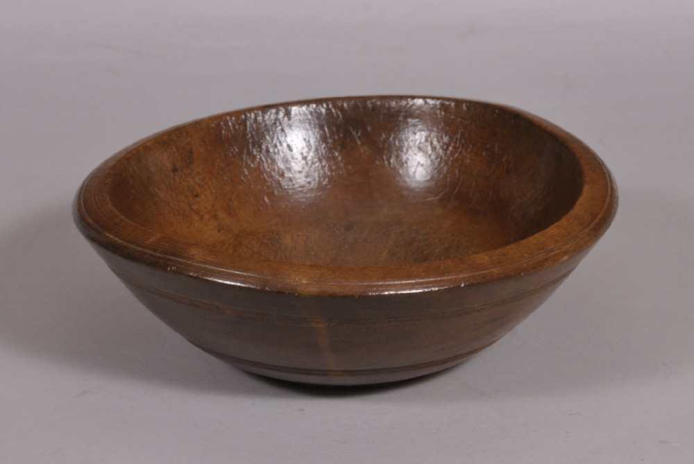antique treen 19th century sycamore food bowl