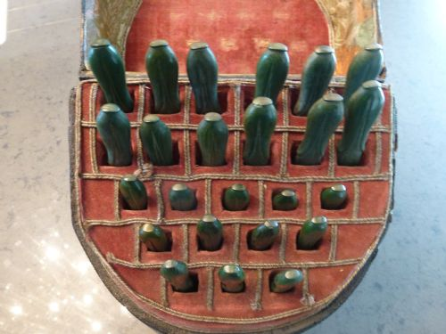 extremely rare geo iii shagreen box with silver cutlery - photo angle #6