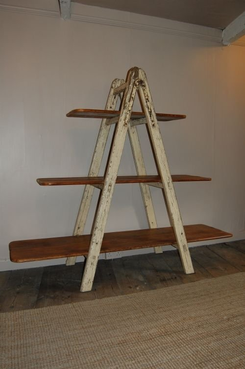 Best Antique Industrial Ladder Shelf/ Bookshelf | 56527 | www.cottage  HN12