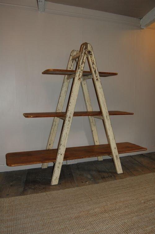 antique industrial ladder shelf bookshelf