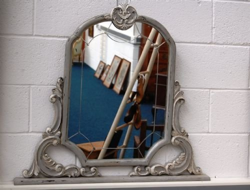 antique french over mantle mirror