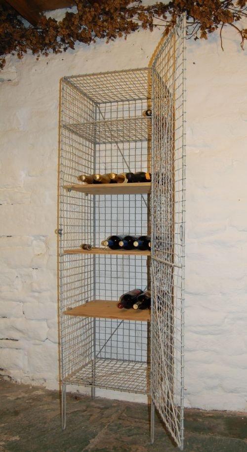antique wire wine cage locker cabinet