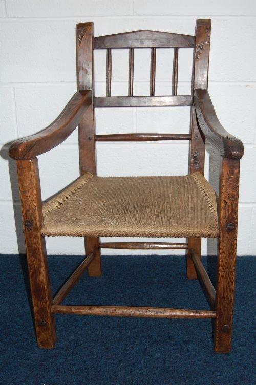 antique georgian irish country arm chair