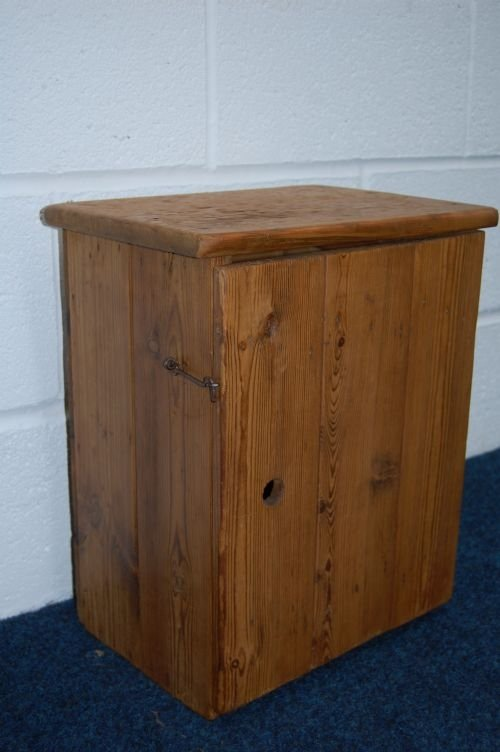 antique pine country cupboard stool