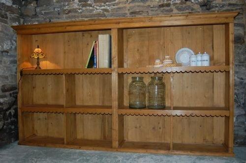 rustic antique pine book shelf dresser shop fitting