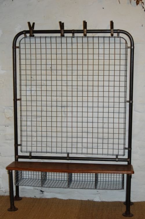 antique industrial wire hall stand gym stand