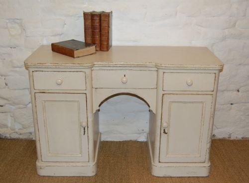 antique regency pine knee hole desk dressing table