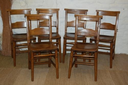 antique chapel chairs set of six matching
