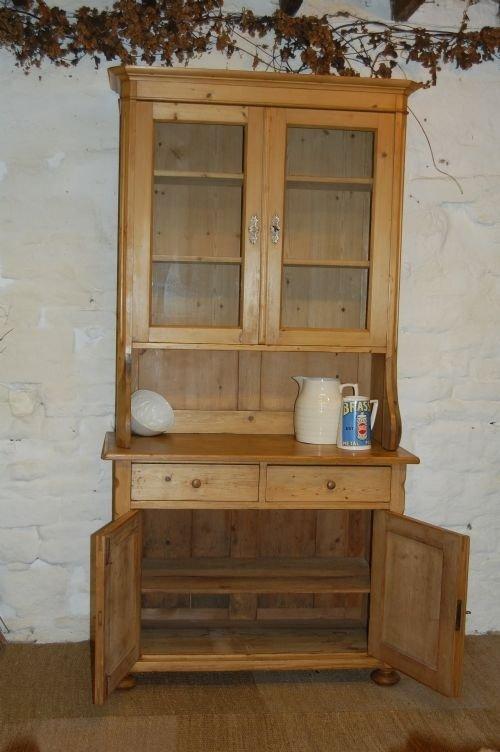 Antique French Louis Philippe Pine Kitchen Dresser Cabinet 86387