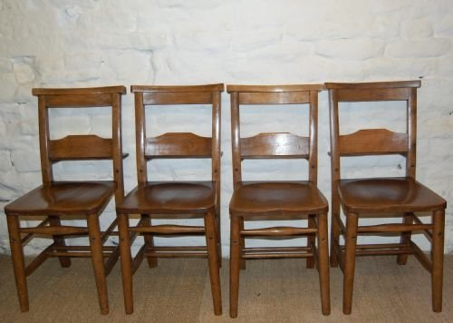 antique chapel chairs set of four matching