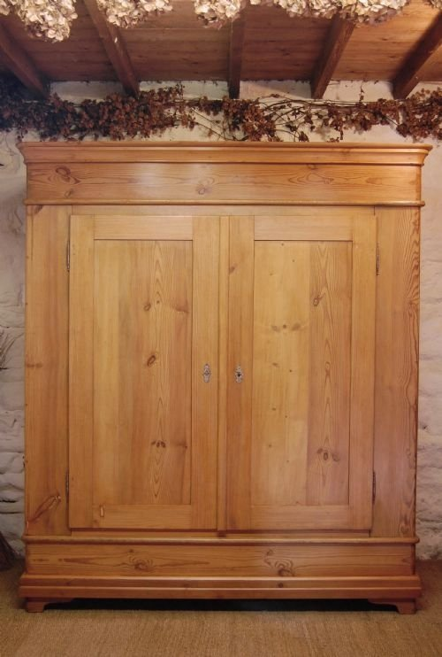 antique pine double country wardrobe