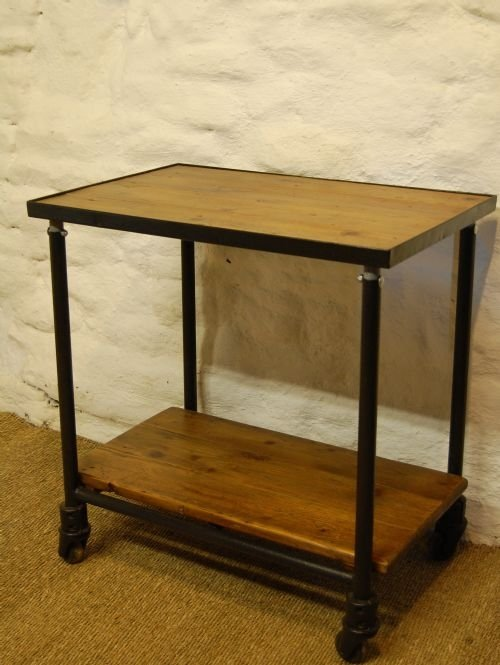 antique industrial mill trolley