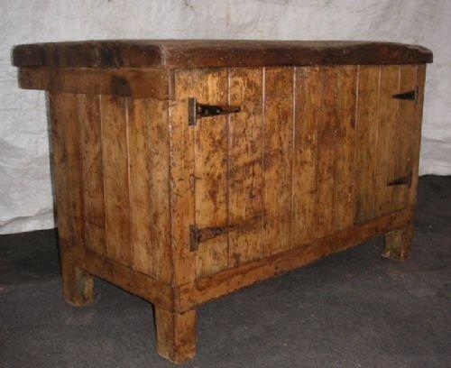 antique industrial cabinet kitchen island