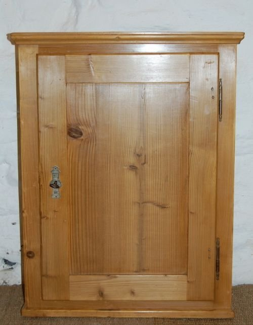 antique pine wall cabinet cupboard - Antique Pine Wall Cabinet /cupboard 100500 Www.cottage-antiques.com