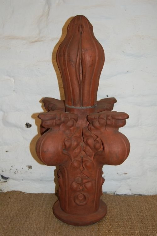 victorian terracotta church finial
