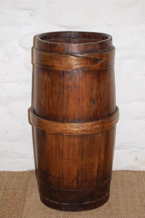 antique swedish pine tall barrel