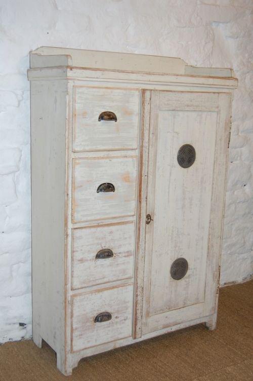 antique pine storage cupboard larder cupboard - Antique Pine Storage Cupboard / Larder Cupboard 110929 Www