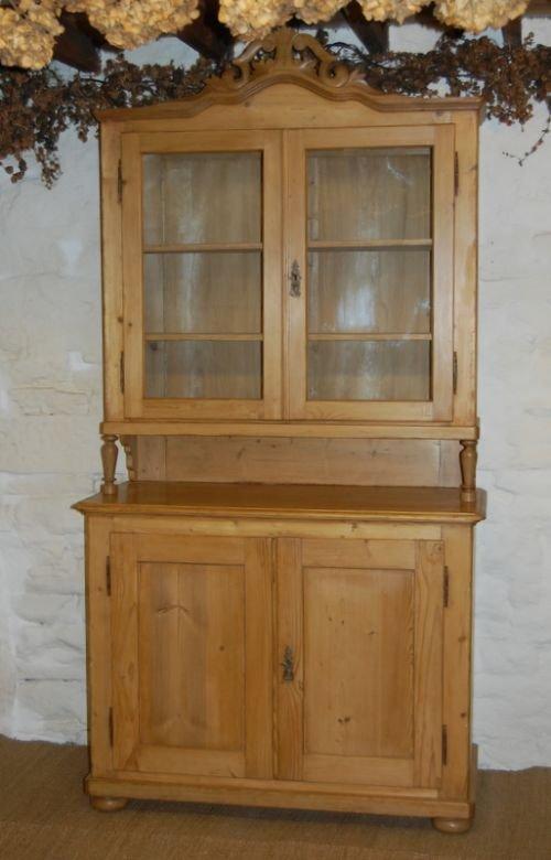 antique louis philippe glazed kitchen dresser cupboard