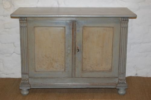 antique danish pine cabinet cupboard in original paint