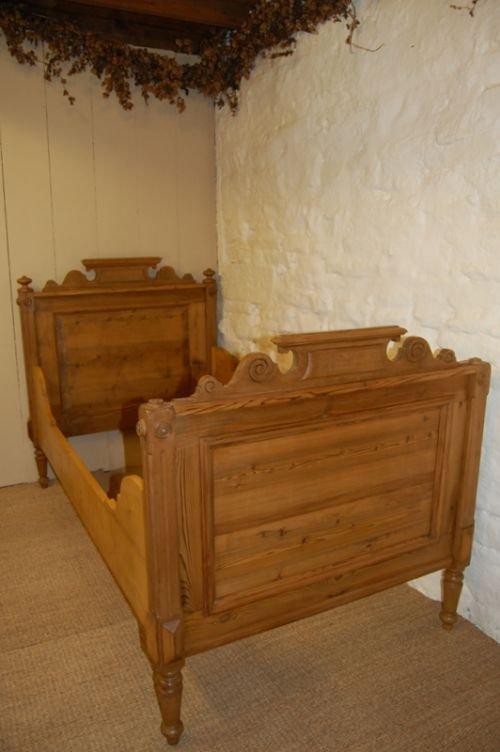 Antique Pine Single Sleigh Bed 128044 Sellingantiques