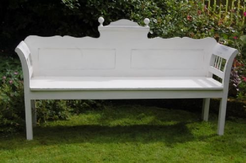 antique gustavian style pine settle bench